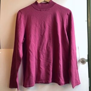 VINTAGE PENDLETON Pink Pullover Mock Neck Sweater